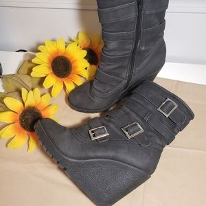 Toi et Moi wedge boots